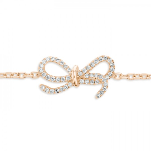 Bow Bracelet made in 18k Rose Gold (0.13cts)