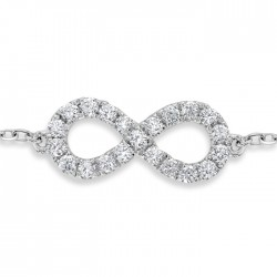 Infinity Bracelet made in 18k White Gold (0.36cts)