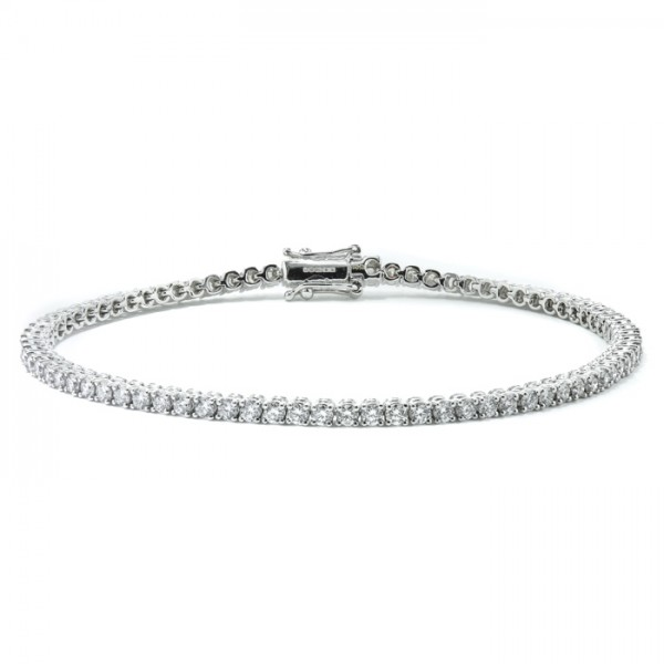 Classic Diamond Tennis Bracelet made in 18k White Gold (0.54cts)