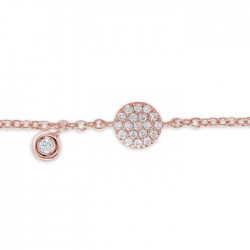 Diamond Bracelet made in 18k Rose Gold (0.15cts)