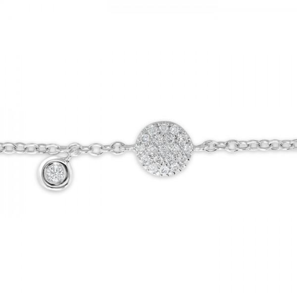 Diamond Bracelet made in 18k White Gold (0.15cts)