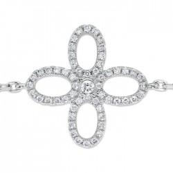 Flower Bracelet made in 18k White Gold (0.17)