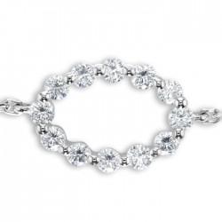 Diamond Bracelet made in 18k White Gold (0.35cts)