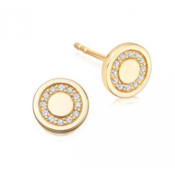 Diamond Studs made in 14k Yellow Gold (0.2cts)