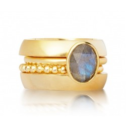 Blue Sapphire Ring made in 14k Yellow Gold (BS - 2cts)