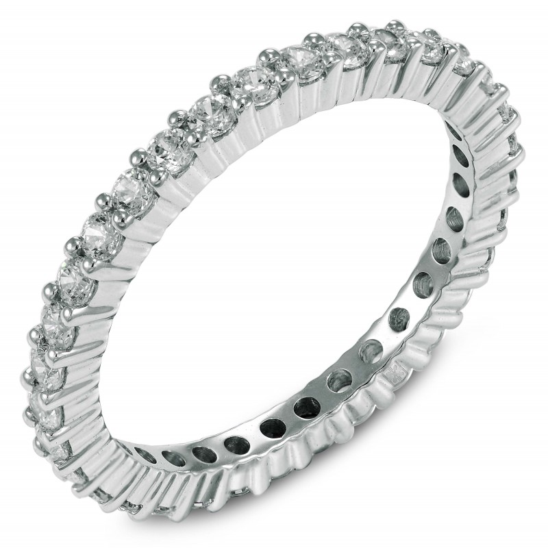 Diamond Eternity Ring In Prong Setting With 33 Round Cut