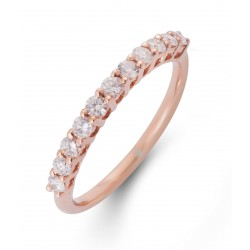 Diamond Stackable Ring made in 18k Rose Gold (0.36 cts)