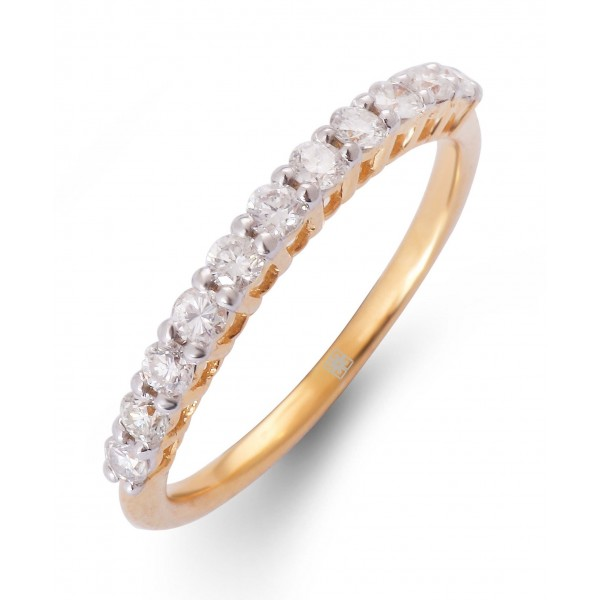 Diamond Stackable Ring made in 18k Yellow Gold (0.36 cts)