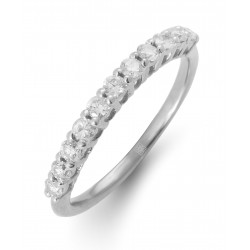 Diamond Stackable Ring made in 18k White Gold (0.36cts)