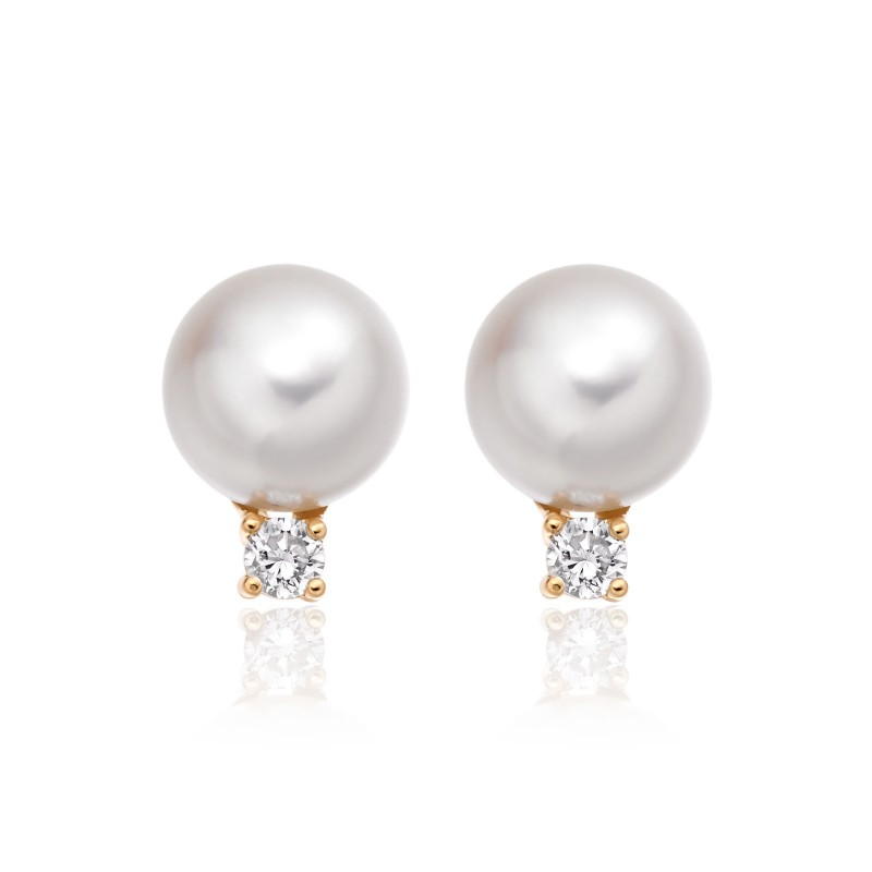 Freshwater Pearl Stud Earring Set Made In 14k Yellow Gold