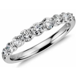 Diamond Ring set in 14k White Gold (0.53ct)