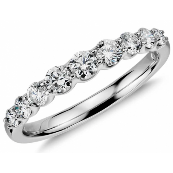 Diamond Ring set in 14k White Gold (0.53ct)