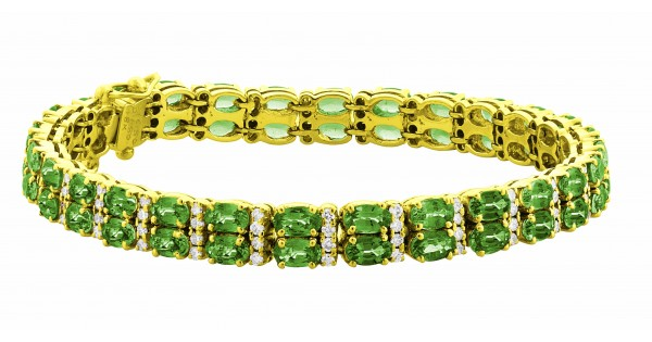 Double Row Emerald Bracelet Made In 18k Yellow Gold 16 5cts Em Custom Le By Chrisjewels
