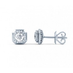 Diamond Stud Earrings In 14k White Gold (0.5 cts)
