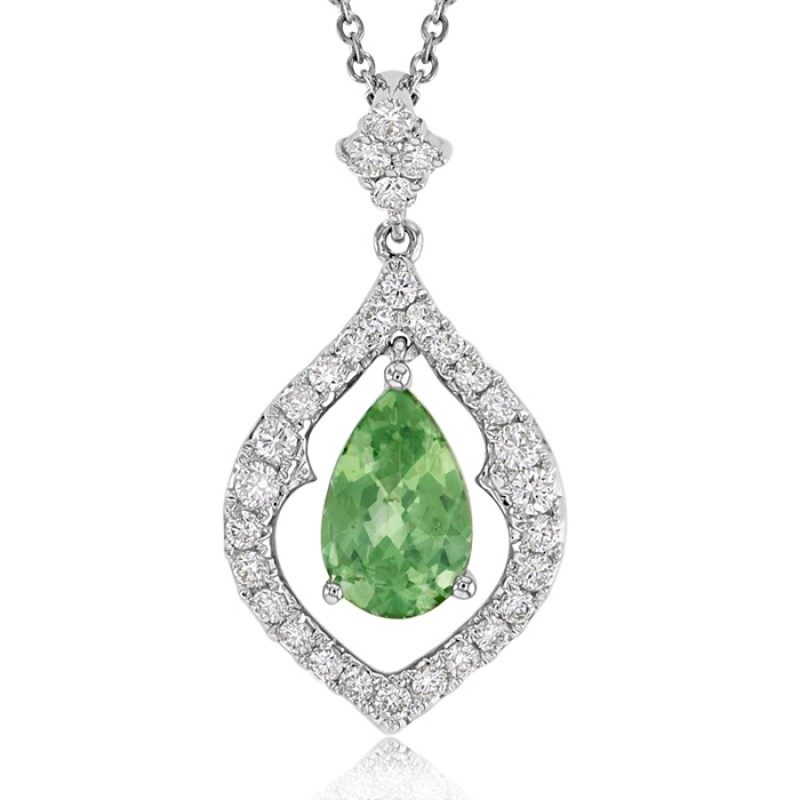 Green garnet and diamond pendant made in 14k yellow gold 2cts green green garnet and diamond pendant made in 14k yellow gold 2cts green garnet aloadofball Images