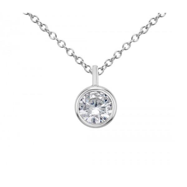 Diamond Pendant made in 14k White Gold (0.25ct )