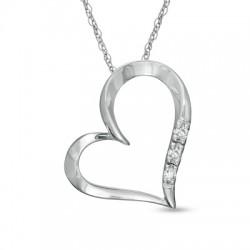 Diamond Pendant Set in 14k White Gold (0.35ct )